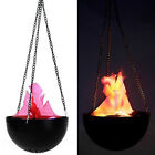 LED Red Flame Light Fake Flame Hanging Torch Light Halloween Prop Decorations