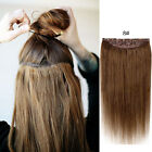 100% Real Human Hair Extension Full Head Five Clips in One Piece THICK 120-180g