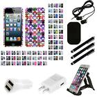 For Apple iPhone 5/5S/SE Design Snap-On Hard Case Phone Cover Combo