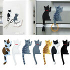 Cute Multifunction Cat Magnetic Refrigerator Sticker Fridge Magnet Hanging Hook