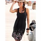 UK Womens Plus Size Sleeveless Holiday Dress Summer Beach Midi Floral Sundress