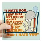 "Cafepress - American Dad I Hate You Square Sticker 3"" X 3 - Square Sticker"