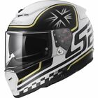 LS2 FF390 Breaker Classic White Multi Full Face Motorcycle Crash Helmet