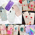 Bright Marble Shockproof Soft Shell Phone Case For iphone Xs Xr 6 6s 7 8 plus X