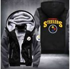 Winter Thicken Hoodie Pittsburgh Steelers Fan Warm Sweatshirt Coat Zipper Jacket on eBay