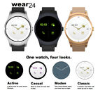 Wear24 Quanta Android Wear 2.0 Smartwatch 42MM WiFi +Bluetooth (Stainless Bite the bullet)