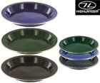 Highlander Deluxe Enamel Camping Plate Bowl Stainless Steel Picnic Dish