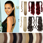 UK Real New Clip in Hair Extension As Human Pony Tail Wrap on Ponytail 17