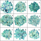 100% Natural Superb Bi Color Fluorite Cabochon Lot ~Many Shapes & Sizes  ~