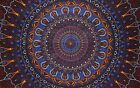 "Psychedelic 3-D Tapestry Cotton Wall Hanging 90"" x 60"" Single Multi Color"