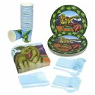 Disposable Dinnerware Set - Serves 24 - Dinosaur Party Supplies - Includes Paper