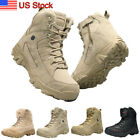Mens Outdoor Hiking Combat Military Boots Shoes for Camping Tactical Desert
