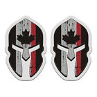 Thin Red Line Canada Subdued Flag Spartan Decal SET Canadian Sticker EVM