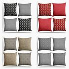 Set of 4 Cushion Covers Shelbourne & Plain Chenille Cushion Cover Collection