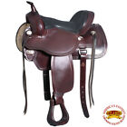 U-5-VX Hilason Western Flex Tree Endurance Trail Riding Horse Saddle Brown