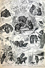 Culver Barnes THREE LITTLE BEARS Bee Tree Blackkberry Patch 1890 Print Matted