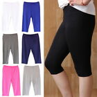 3PCs Summer Womens Casual Thin Solid Cropped Trousers Modal Slim Short Leggings