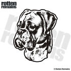 Boxer Dog Decal Pet Kennel Dogs Adopt Rescue Car Gloss Sticker (LH) HVG