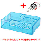 Raspberry Pi 3/3B+ GPIO Case Black Transparent Clear with Cooling Fan