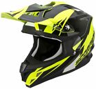 Scorpion VX-15 Evo Krush Black Yellow Full Face Motocross Motorcycle Helmet