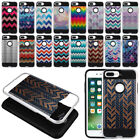 """For Apple iPhone 7/8 Plus 5.5"""" Chevron Shockproof Brushed Hybrid Case Cover"""