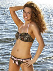 Mossy Oak Camo Swimsuit Bandeau Bikini Belted Swim Bottom - Camouflage Swimwear