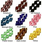WHOLESALE GLASS BEADS FACET BICONE 9 COLORS PINK RED BLUE GREEN AMETHYST 6MM 4MM