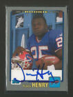 2001 TOPPS BILLS TRAVIS HENRY AUTOGRAPH ROOKIE PREMIERE  CARD #RP-THE