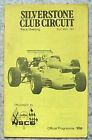 SILVERSTONE 31 May 1971 NSCO RACE MEETING Motor Sport Official Programme