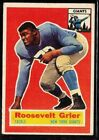 1956 TOPPS FOOTBALL NEW YORK GIANTS ROOSEVELT GRIER ROOKIE CARD RC HOF #101 EX