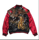 Mens fashion dragon Tiger luxury embroider coats Jackets couples reversible New
