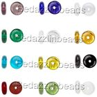 30 Flat Round Czech Glass Rondelle Spacer Disc Beads Assorted Colors Available