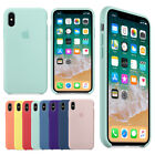 Original Silicone Luxury Case for Apple iPhone X 7 8 Plus Genuine OEM Cover