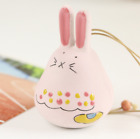 Hand-made Fat Cute Rabbits Frosted Ceramic Ornaments Wind Chimes Clay Sound Bell