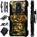 For Apple / LG Phone Case Holster Kick Stand Cover CAMO FOLIAGE BROWN Lux Guard