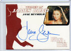 James Bond 007 - Numbered Autograph Card Selection NM Rittenhouse 40th Women