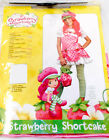 Rubies Strawberry Shortcake Costume Dress Hat Tights  Pink Red White Tween S M