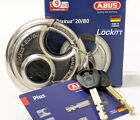 ABUS 20/80 Diskus Round Padlock Keyed Different Plus Cylinder Made In Germany