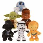 "Star Wars Plush Soft Toys 8"" Vader, Chewbacca, Yoda, R2D2, Kylo Ren, BB8, C3PO"