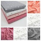 Scattered Hearts DOUBLE GAUZE 100% Cotton Fabric Dressmaking Lightweight Cute