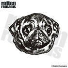 Pug Dog Decal Pet Kennel Adopt Rescue Dogs Car Truck Vinyl Sticker EMV