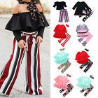 Baby Kids Girl Long Sleeve Top T-shirt + Long Pants Leggings Clothes Outfits Set