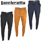 Lambretta Chino Trousers Cotton Summer Mens Multi Pocket Soft Zip Fly UK 32-40R