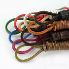 Colorful Leather Boot Laces Shoelace Fashion Square Boot Shoe Men Women Strings