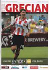 EXETER CITY  HOME PROGRAMMES 2011/2012
