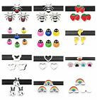 5pc 8mm slider Dog paw spider ladybug slide charms fit for 8mm belt/pet collar