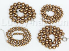 """18"""" 8mm 10mm 12mm 14mm coffee brown south sea shell pearls necklace 18KGP j12720"""