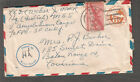 May 7 44 WWII Naval censor cover Lt Dudley L Weber HQ Fwd Ech MSS V Amphibious