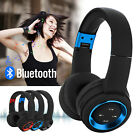 Bluetooth Headphones Wireless Headset Over Ear Stereo Earphones Noise Cancelling