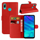 For Huawei P Smart - Premium Leather Wallet Cover Flip Case + Screen Protector